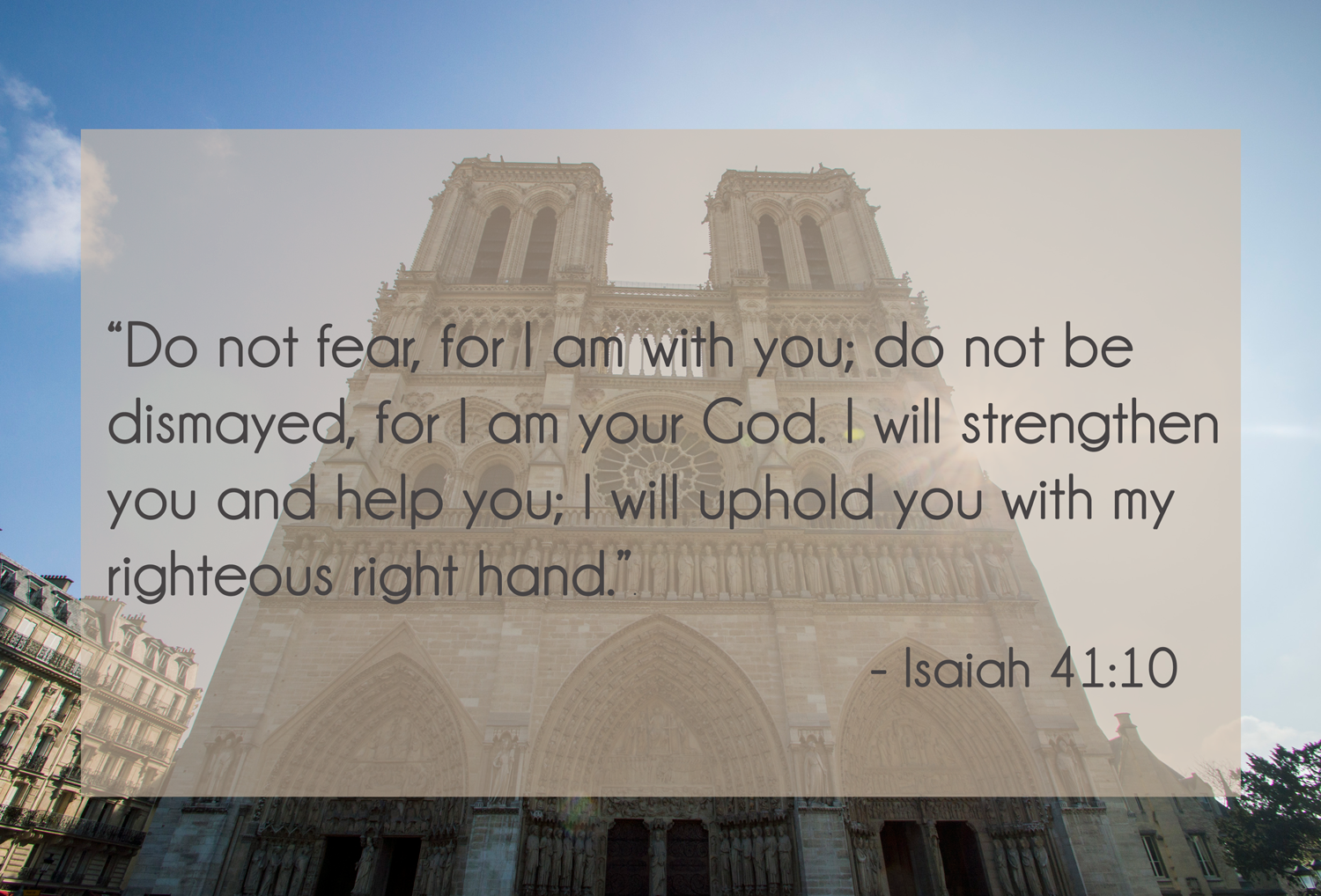 Choosing faith over fear - Isaiah 41:10
