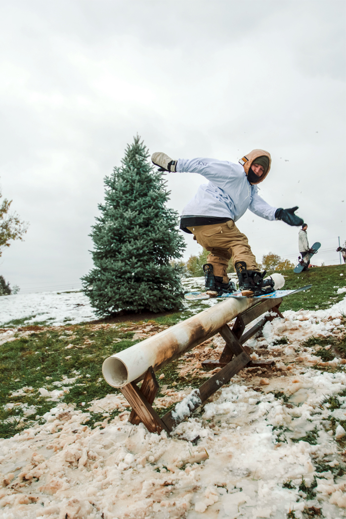 Spontaneous October Snow Day – Snowboarding Photos